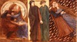 Dante Gabriel Rossetti (1828-1882)  Paolo and Francesca  Mixed media, 1849-1862  60.325 x 31.75 cm (23&#190;